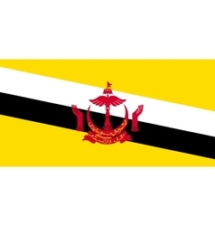 Flag of brunei in correct size and colors vector