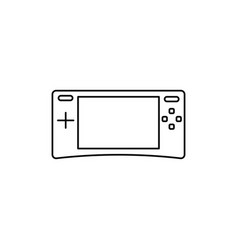 game console icon vector image vector image