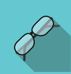 glasses with long shadow vector image vector image