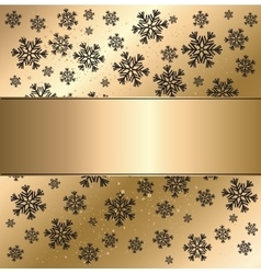 Gold winter abstract background vector
