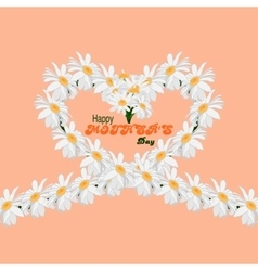 Happy Mothers Day concept background Heart of vector image vector image