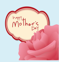 Happy mothers day pink flower vector