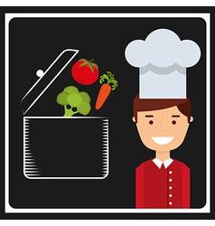 healthy vegetarian food design vector image