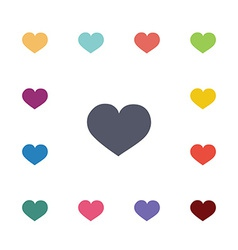 heart flat icons set vector image