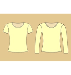 Long and short sleeved shirt vector