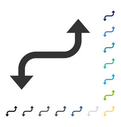Opposite curved arrow icon vector