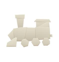 origami logistic paper train transport concept vector image