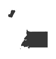 Republic of equatorial guinea map vector