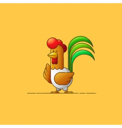 Rooster new year 2017 year of the rooster contour vector