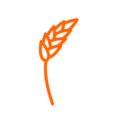 Rye ear line icon wheat sign for production of vector