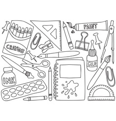 school or office supplies vector image