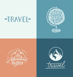 set of hand-lettering designs vector image