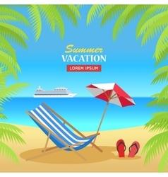 Summer vacation on tropical beach vector