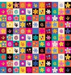 Sweet flowers pattern 2 vector