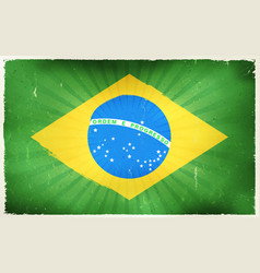 Vintage brazil flag poster background vector