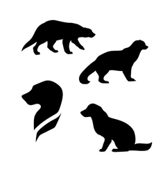 Wolverine silhouettes vector