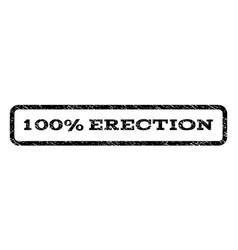 100 percent erection watermark stamp vector