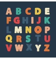 Alphabet hand draw vector image