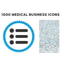 Items icon with 1000 medical business pictograms vector