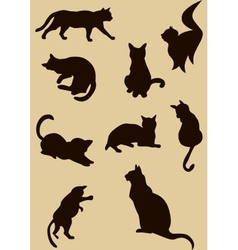 Cats silhouettes vector