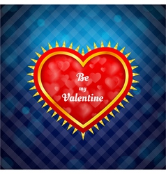 Ornamental heart on blue background vector