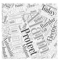 Burglar alarm system manufacturer word cloud vector