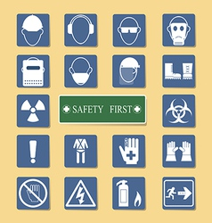 Set of personal protection equipment ppe vector