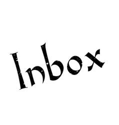 inbox rubber stamp vector image
