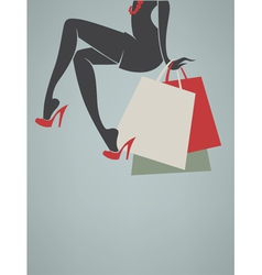 shopping background vector image