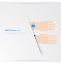 Business hands gestures design elements isolated vector