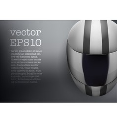 Background of white motorcycle helmet with strip vector