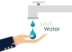 World water day concept with water drop vector