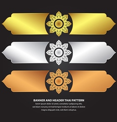 Banner and Header Thai Pattern vector image
