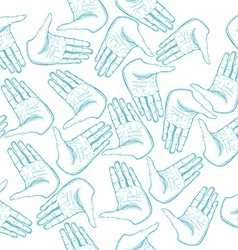 Human hands palm seamless pattern vector