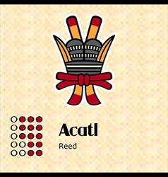 Aztec symbol Acatl vector image vector image
