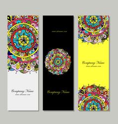 banners design floral mandala vector image
