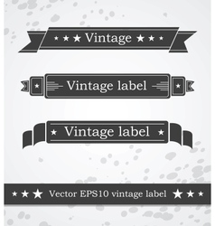 Black ribbons with retro vintage styled design vector