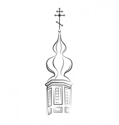 church dome vector image vector image