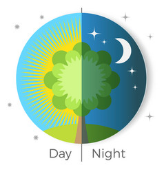 day and night conceptual vector image vector image