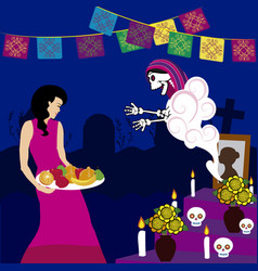 Day of the dead altar de muertos 3 vector