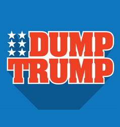 dump trump design vector image