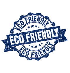 Eco friendly stamp sign seal vector