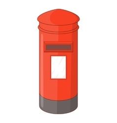 English inbox icon cartoon style vector image