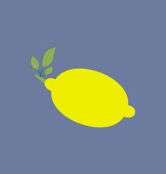 Lemon citrus icon vector