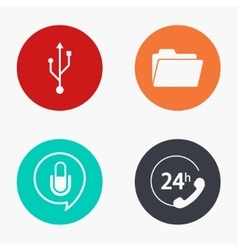 modern technology colorful icons set vector image vector image
