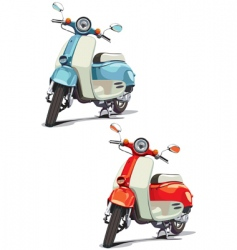 old-fashioned scooter vector image