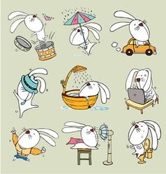 Rabbit toon vector