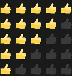 Rating thumbs up panel customer review vote vector