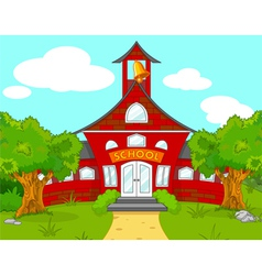 School landscape vector image vector image