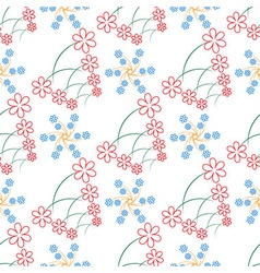 Seamless of thin branches with little flowers vector image vector image